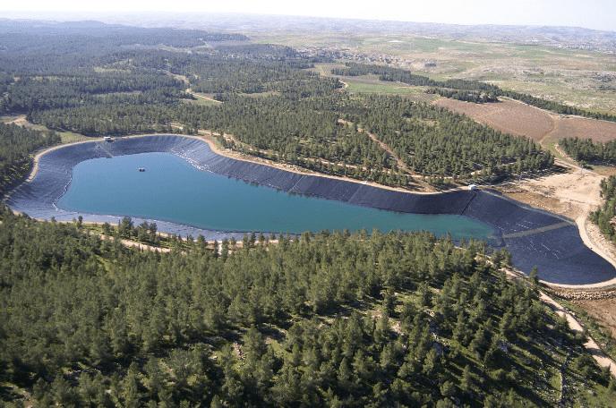 Yattir reservoir , Israel